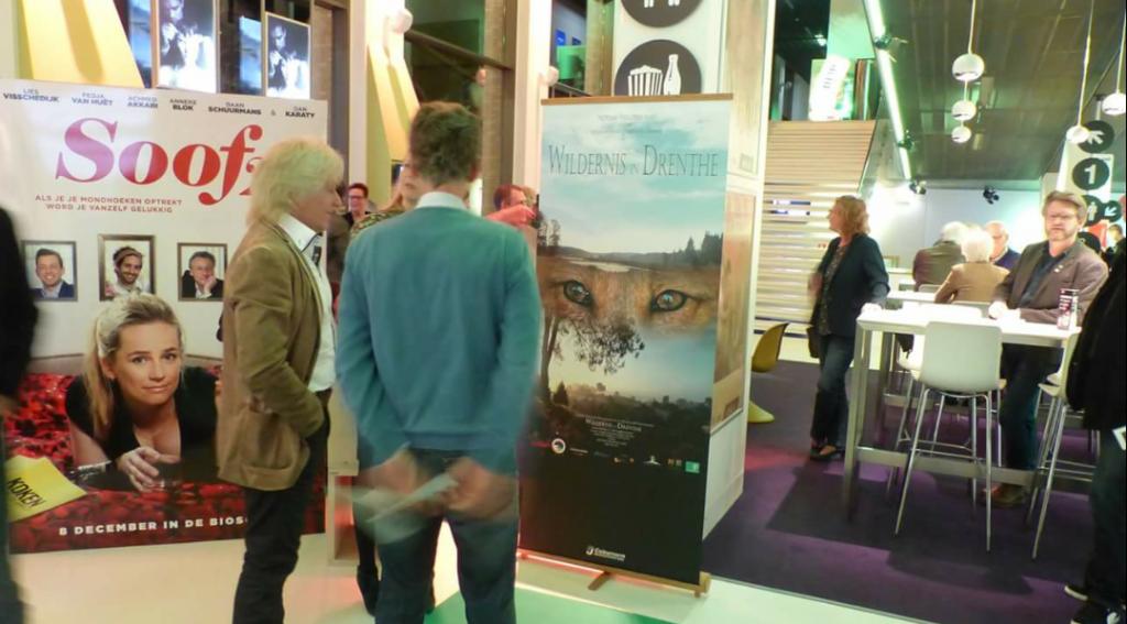 Ook was er een prachtige banner van de filmposter aangeboden door COLOURNORM Reclameproductie Assen